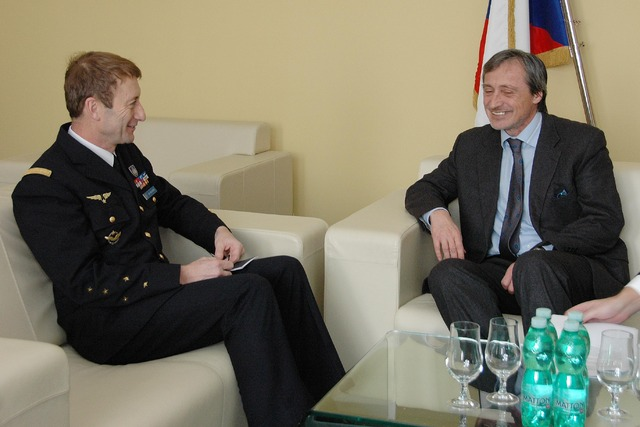 General Patrick de Rousiers and Minister of Defence Martin Stropnicky