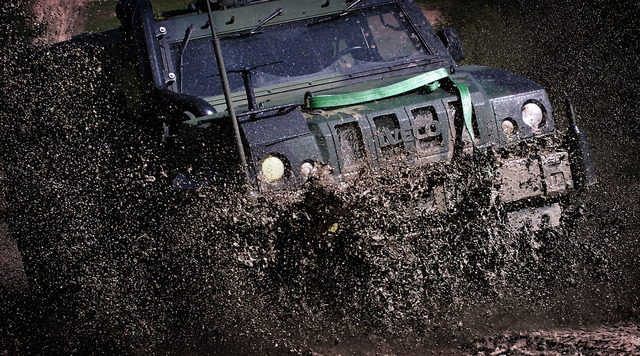 Rather muddy terrain for Iveco vehicle