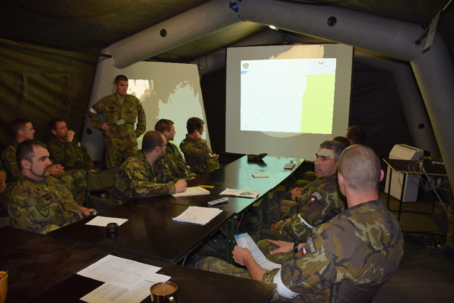 Briefing of the ISR unit commanders