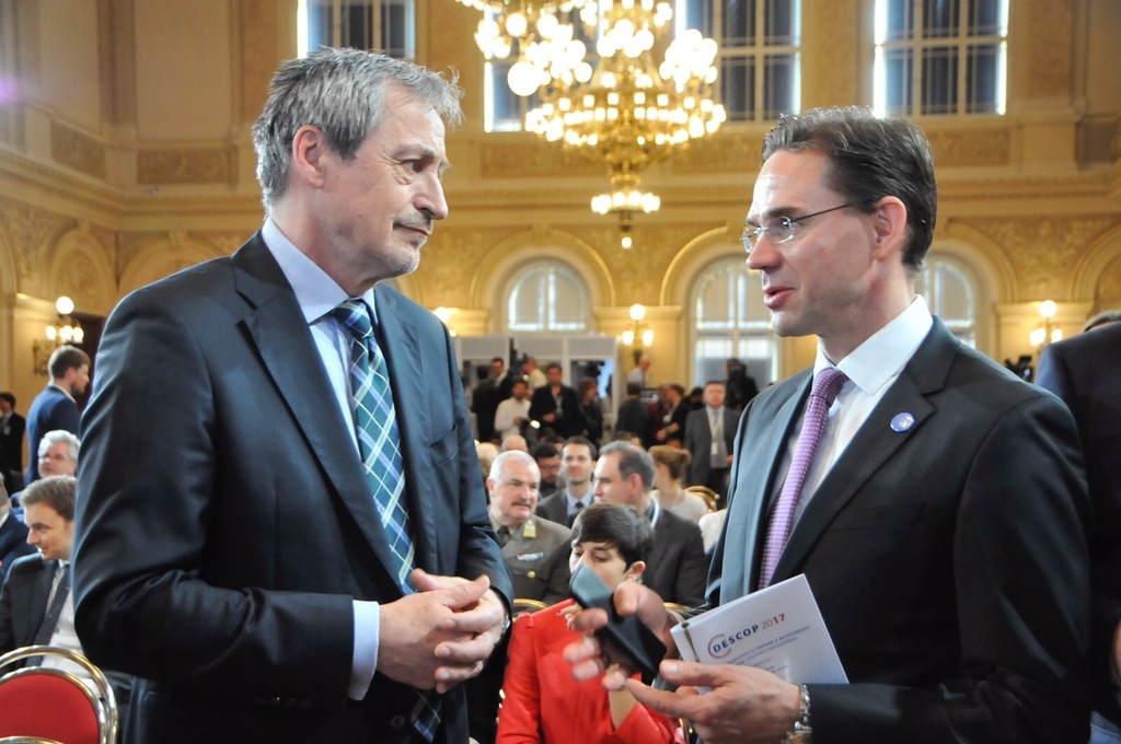 Minister Stropnicky and Jyrki Katainen, Deputy Chairman of the European Commission