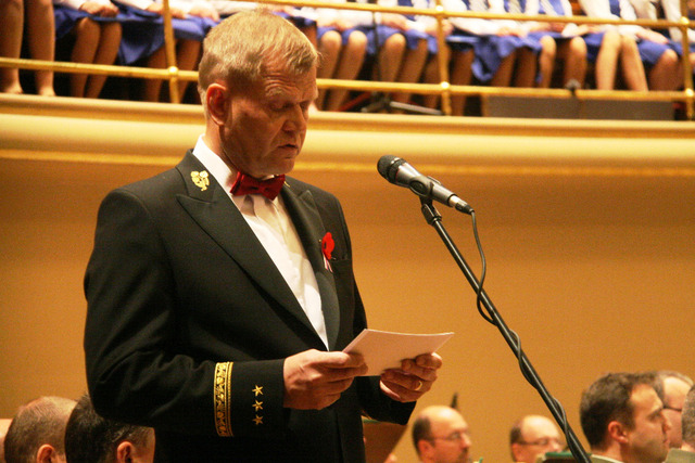 Chief of the General Staff of the ACR General Becvar opening the ceremonial concert at the Rudolphinum Concert Hall in Prague