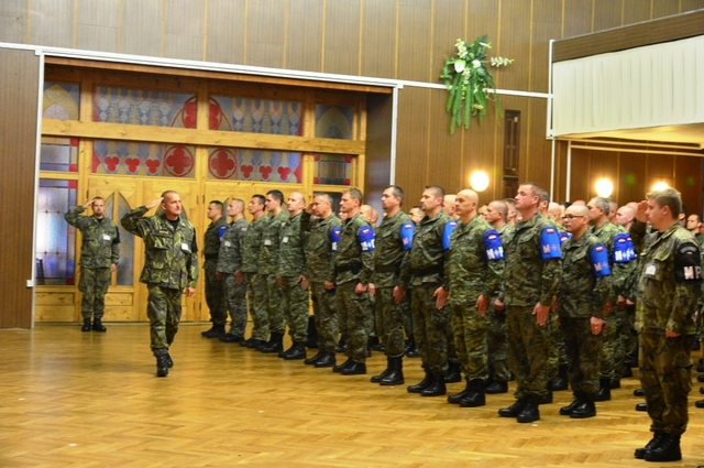 Members of the NATO Multinational Military Police Battalion before the exercise