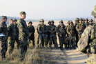 Chief of the General Staff visits military training of newcomers