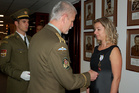 General Pavel awards Jana Hierschova for Czech-U.S. military cooperation