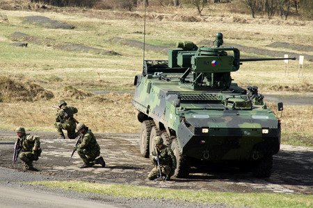 Czech military is equipped with wheeled armoured personnel carrier Pandur