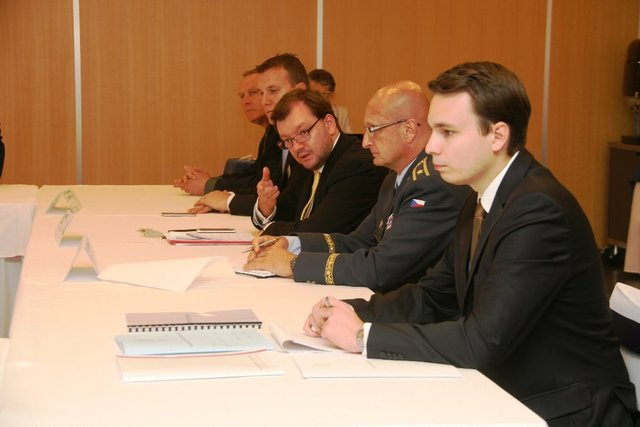 The meeting chaired Czech MoD Political Director Jan Jires (third from the right)