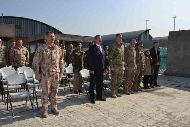 The ceremony was attended by U.S. TAAC-A Commander, Czech Ambassador to Afghanistan Miroslav Toman, Commander of the 12th ACR Task Force RSM Colonel Miloslav Lafek and other guests <br />