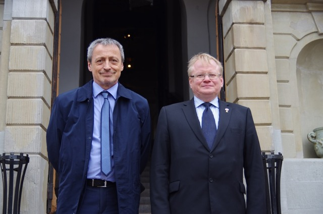 Ministers Stropnicky and Hultqvist