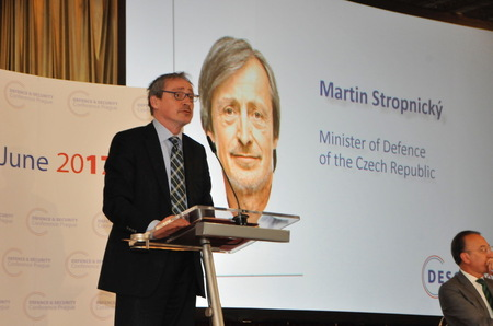 Minister of Defence Martin Stropnicky speaking at the conference