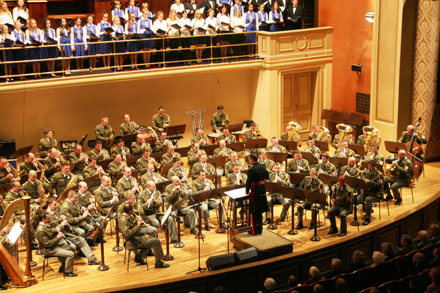 The Central Military Band directed by Lieutenant Colonel Darren Wolfendale