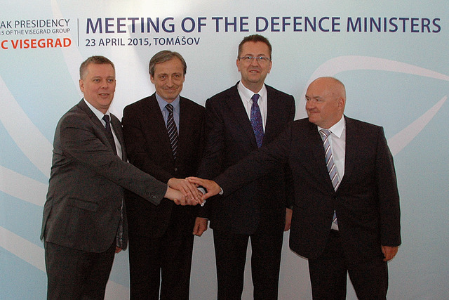 Ministers of Defence of Poland, Czech Republic, Slovakia and Hungary