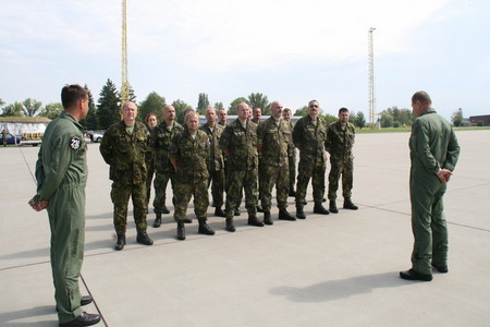 First part of the 2nd Contingent before departure from the Caslav Air Base