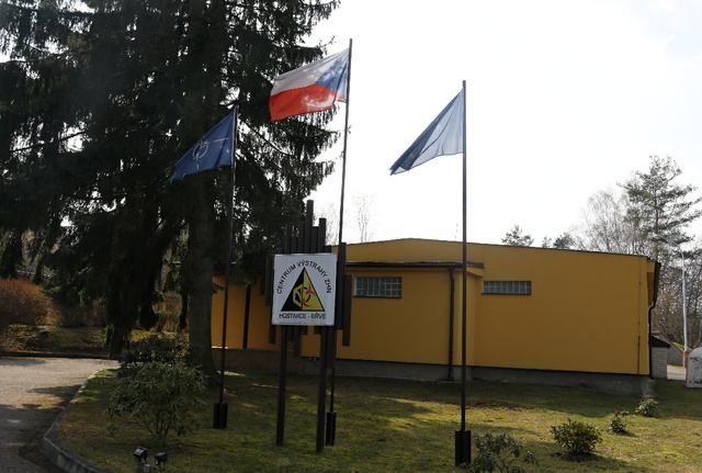 Entrance to the 314th NBC Warning Centre in Hostivice-Brve