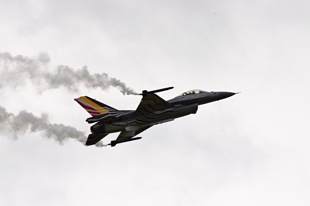 Belgian display F-16 fighter