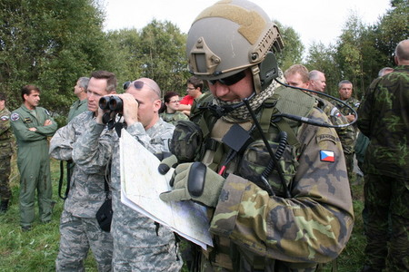 American and Czech Forward Air Controllers during the DOMESTIC CAS exercise at Military Region Boletice