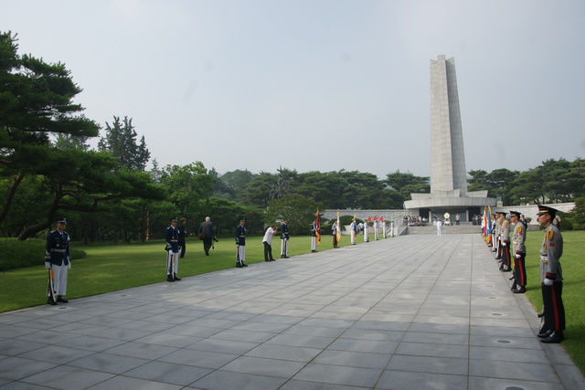 Ceremonies were close to the Memorial at the National Cemetery in Soul