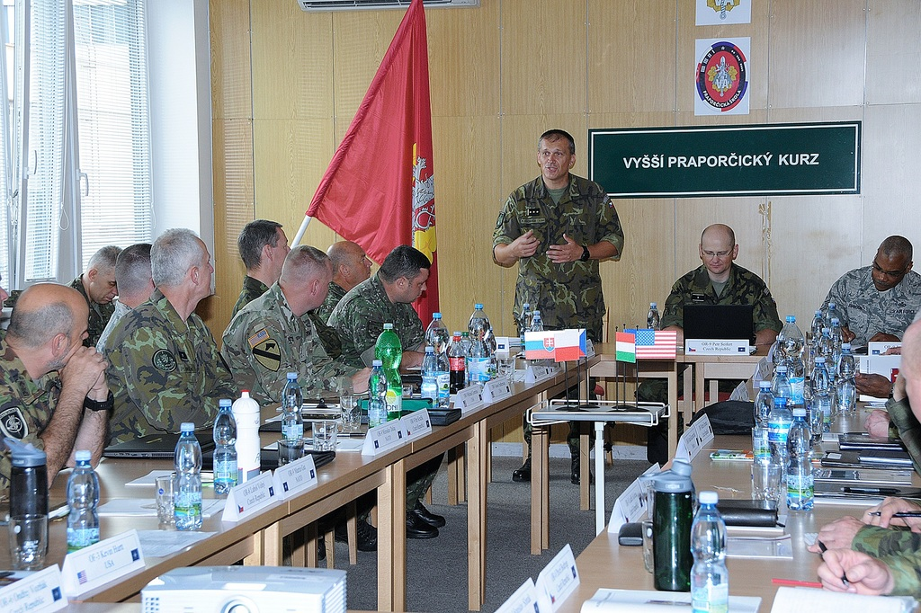 The Military Academy Deputy Commandant, Colonel Petr Svoboda, welcoming participants of the seminar