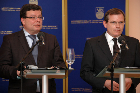 From the left: Defence Minister Alexandr Vondra and his First Deputy Jiri Sedivy