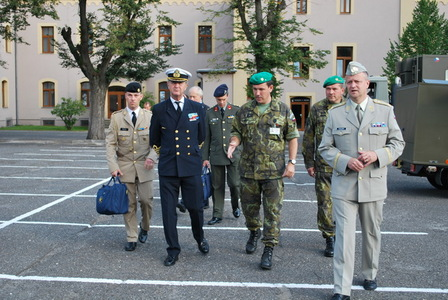 General Syrén with delegation at the 6th October Barracks at Liberec
