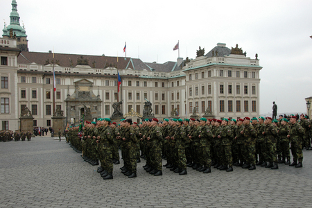 Military oath at the Prague Castle Square