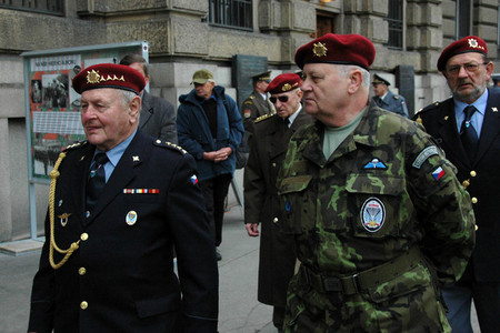 War veterans attended the first day of the exhibition