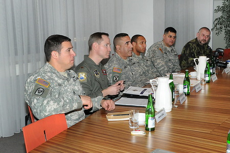 TNG delegation with LTC Colon in the centre, and Czech NCO specialist CSM Kolesa in the far right