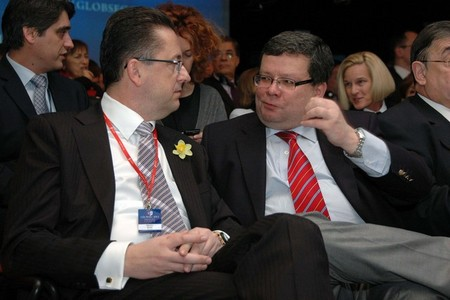 Martin Glvac, Minister of Defence of the Slovak Republic, and Alexandr Vondra