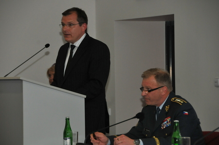 Opening address of First Deputy Minister of Defence Jiri Sedivy with Chief of the General Staff General Vlastimil Picek