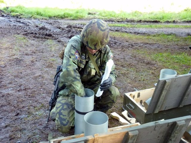 Preparing ammunition before a fire exercise