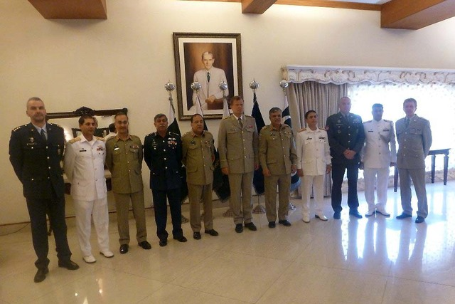 General Becvar after a meeting with top representatives of the Pakistan Armed Forces in Islamabad
