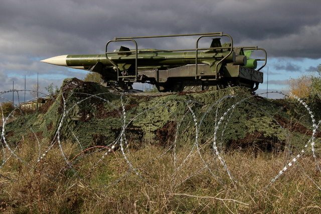 2K12 KUB air defence missile system - ready to fire