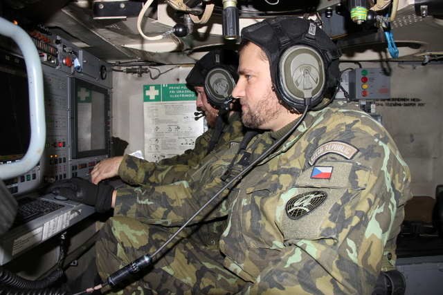 Commander and operator of SURN CZ radar during simulated combat activities