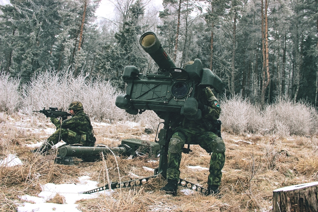 RBS-70 air defence squad at a firing range