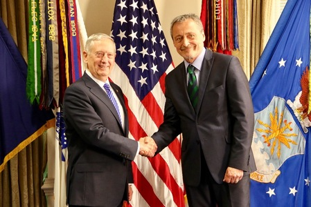 US Secretary of Defense James Mattis and the Czech Minister of Defence Martin Stropnicky