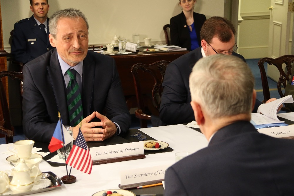 Martin Stropnicky during bilateral talks with James Mattis