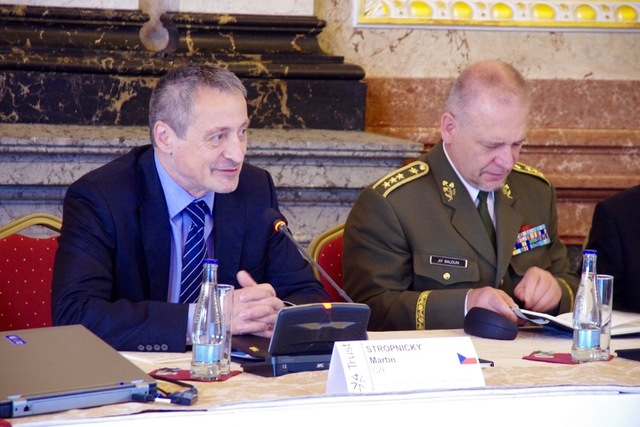 Czech Minister of Defence, Martin Stropnicky and First Deputy Chief of the General Staff of ACR, Lieutenant General Jiri Baloun
