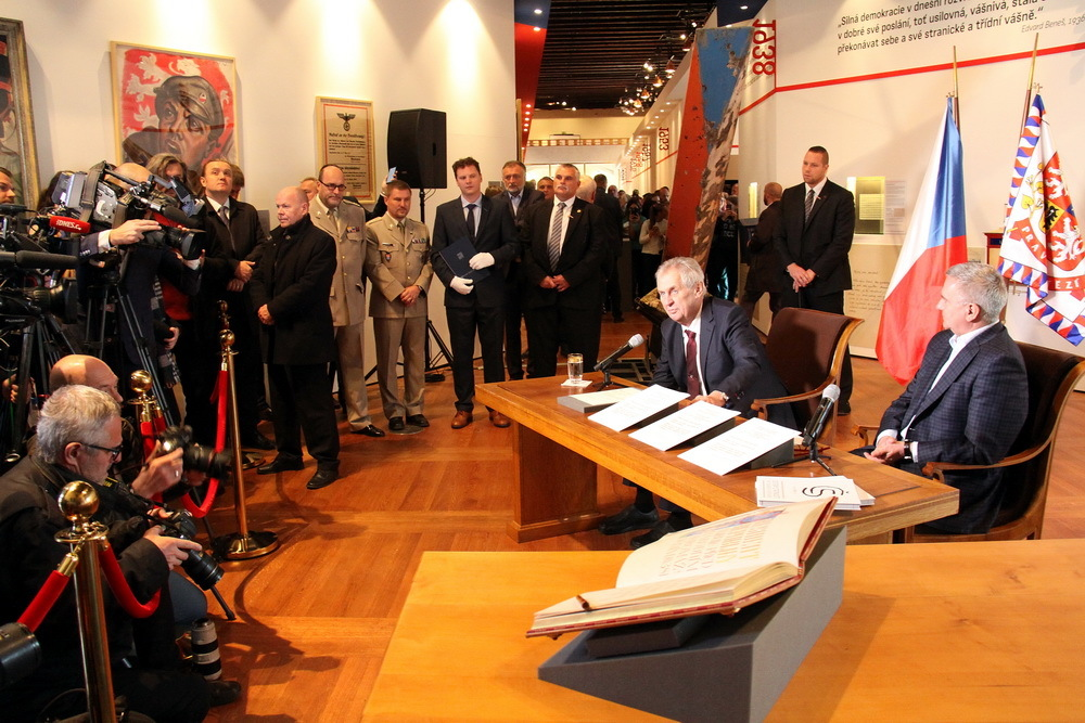 President Milos Zeman opens 'Touches of Statehood' exhibition