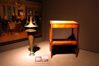 Decorative vase and writing table used by President T. G. Masaryk – both works by Jozo Plecnik