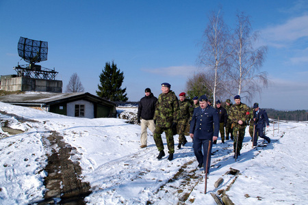 Part of a combat position of the 5th Radiotechnical Company at Trebotovice