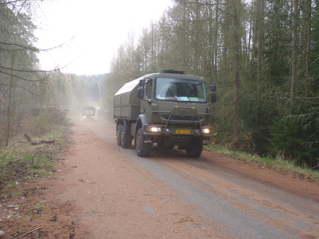 Convoy in the woods of the Military Training Area Brdy (1)