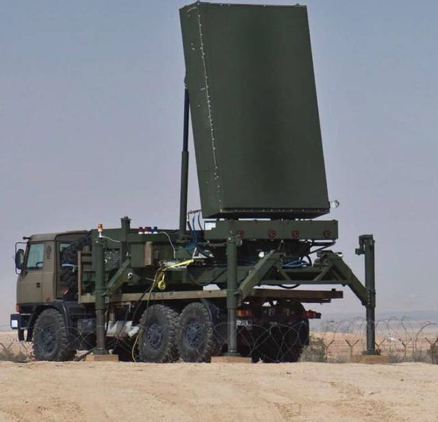 ELM 2084 MMR radar of the Iron Dome system