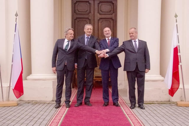 V4 Ministers of Defence in Liblice
