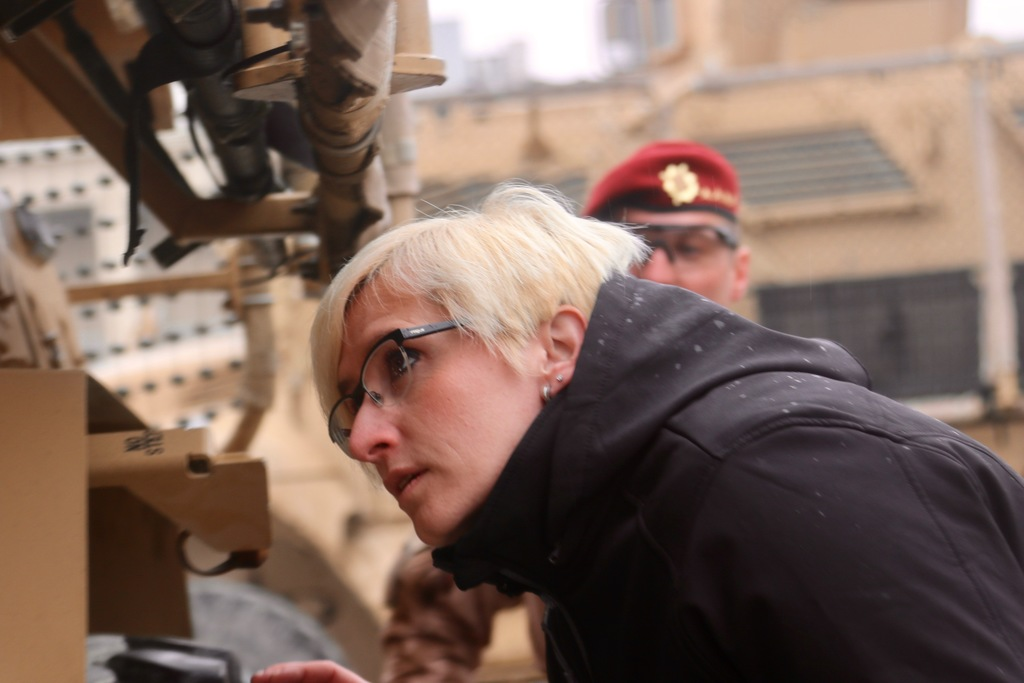 Minister Slechtova inspecting Czech soldiers' materiel and vehicles (2)