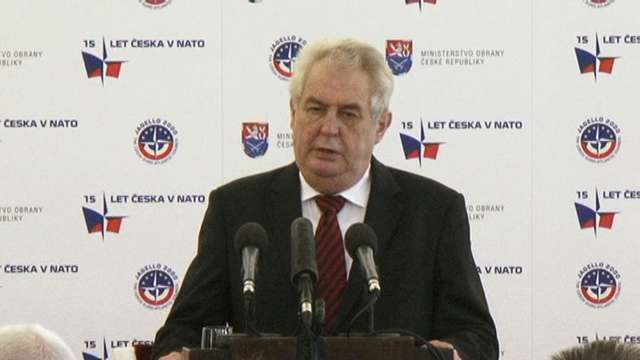 The Supreme Commander of the armed forces and President of the CR, Milos Zeman, opens the conference