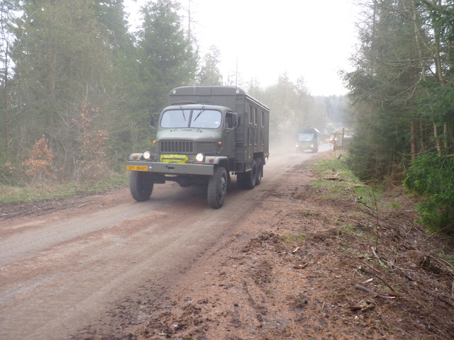 Convoy in the woods of the Military Training Area Brdy (2)