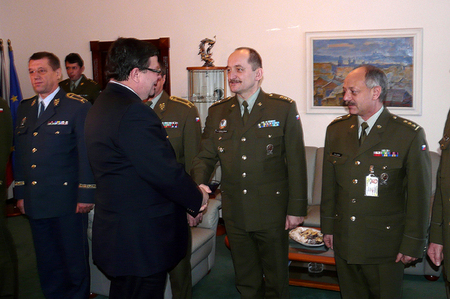 Minister Vondra with high representatives of Armed Forces of the Czech Republic
