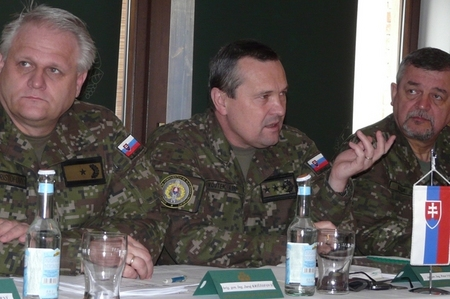 Capable Logistician 2013 planning: Lieutenant General Peter Vojtek, Chief of the Slovak General Staff, during talks with Czech party in Luhacovice, CR (10-11 April 2013)