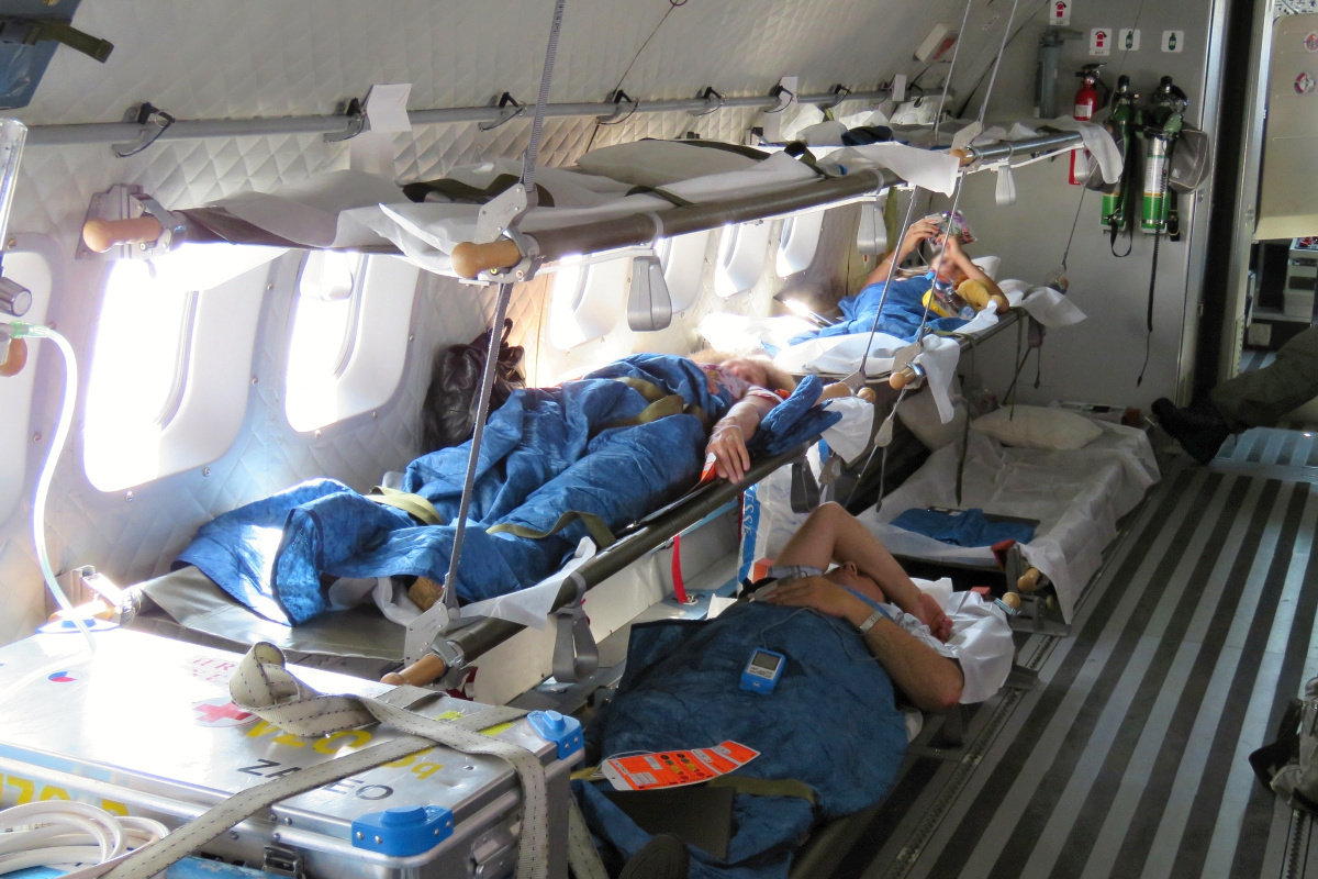 CASA aircraft transports wounded Ukrainians to the Czech ...