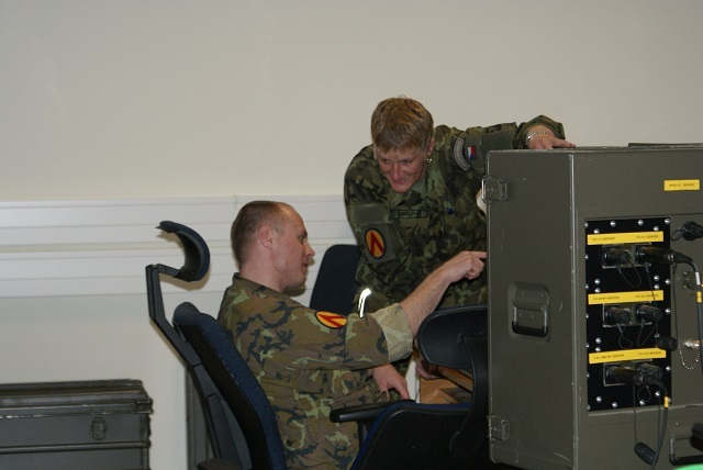 Personnel of the 25th Air Defence Missile Regiment during testing