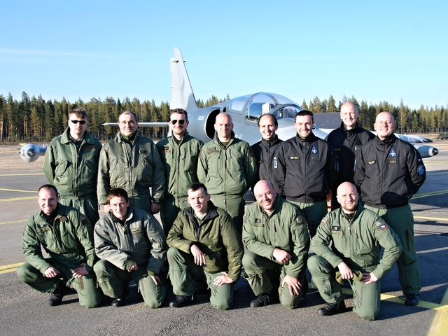 Czech Air Force members at HTIC 2014